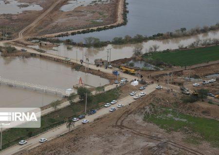 سیلابهای ورودی به خوزستان تا نیمه فروردین قابل کنترل است