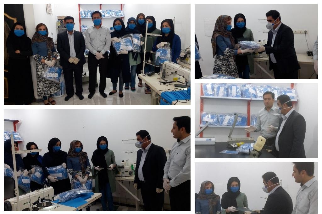 اهداء ۲هزار ماسک بهداشتی به کارکنان شهرداری شوش