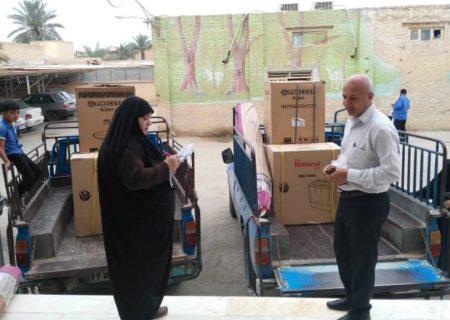 ۶۳ فقره جهیزیه به نوعروسان تحت حمایت کمیته امداد شادگان اهدا شد