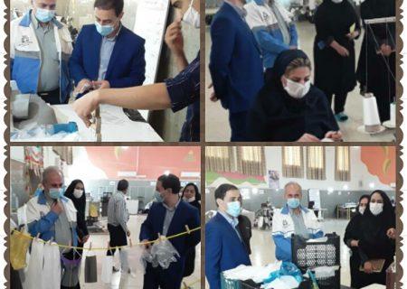 بازدید مدیر شبکه بهداشت و درمان از کارگاه تولیدی خیرین نیکوکار شهرستان امیدیه