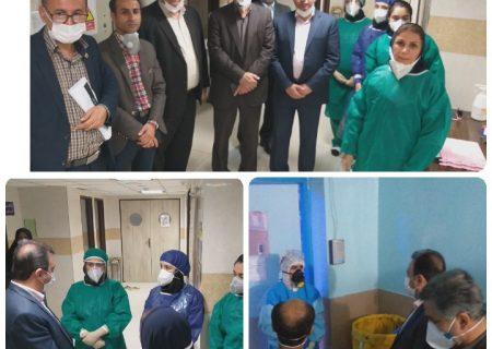 بازدید دکتر ابول نژادیان وضعیت بیماران کرونای شهرستان امیدیه