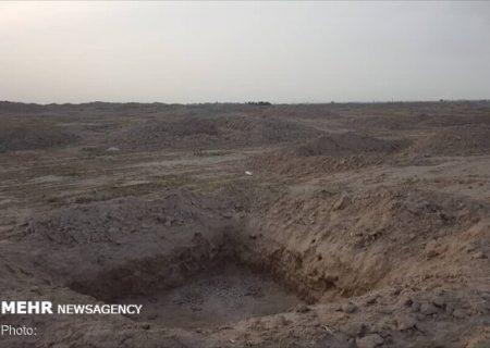 هجوم بی امان حفاران به یک محوطه تاریخی شوش
