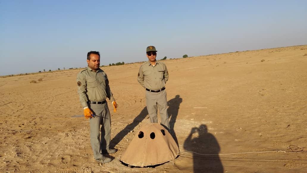 تخریب یک باب کوخه توسط یگان حفاظت محیط زیست شهرستان هندیجان