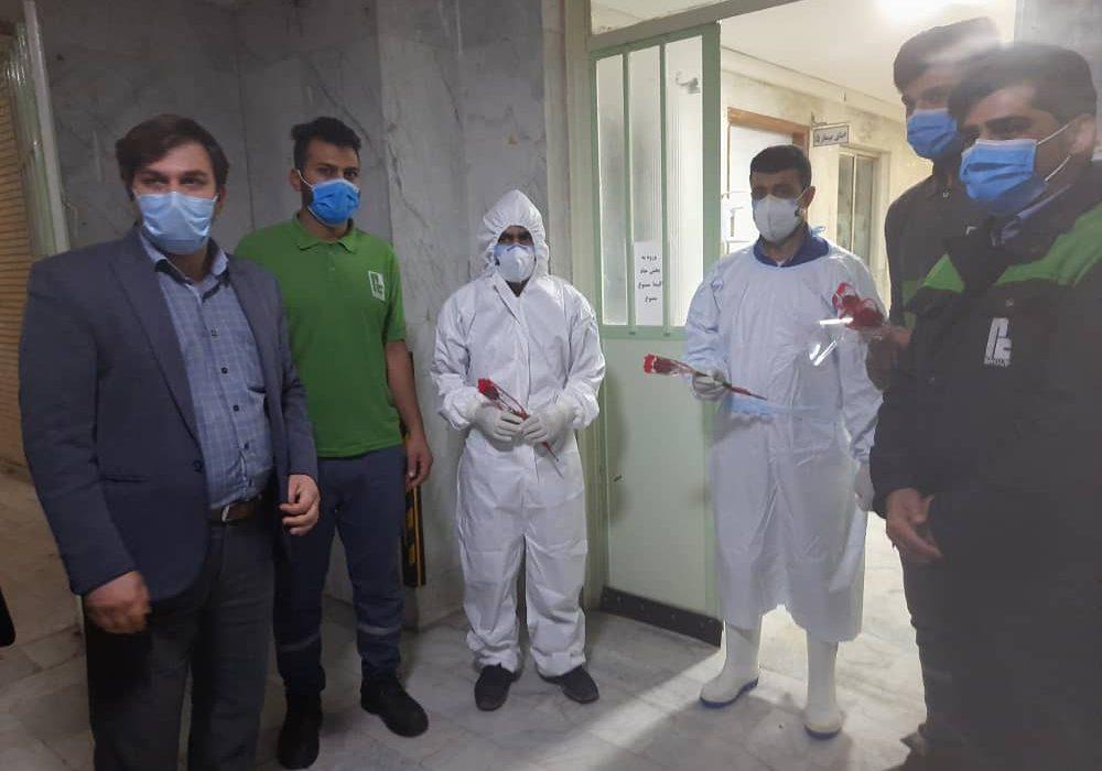 مراسم روز پرستار از طرف شرکت پاک چوب برای پرسنل بیمارستان نظام مافی شوش برگزار شد