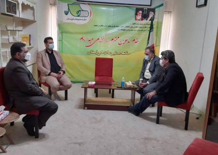 ریاست هیات کشتی خوزستان از خانه مطبوعات و بسیج رسانه استان خوزستان دیدار کرد